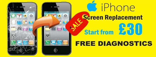 iphone screen replacement from 30